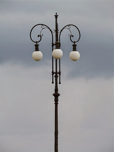 Lamp post against a cloudy sky, Terrazza Mascagni, Livorno