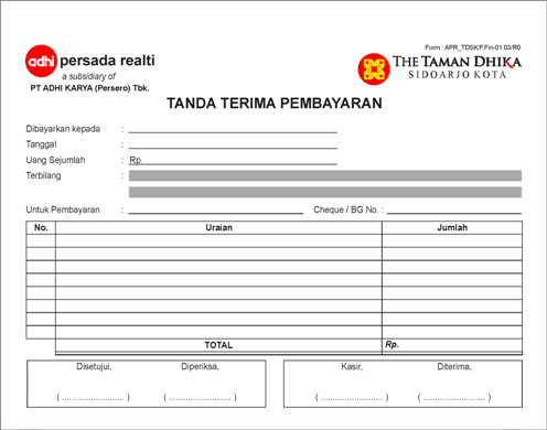 Contoh Faktur Invoice Healthy Body Free Mind