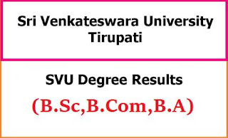 SVU Degree Exam Results 2021