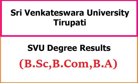 SVU Degree Exam Results