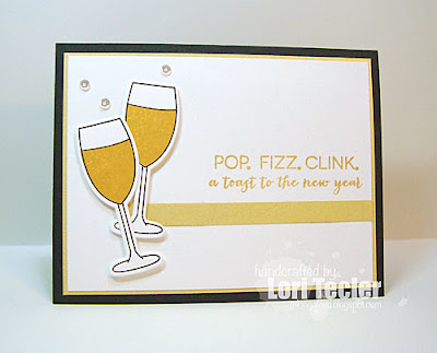 A Toast to the New Year card-designed by Lori Tecler/Inking Aloud-stamps and dies from Clear and Simple Stamps