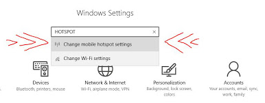 pilih change mobile hotspot settings