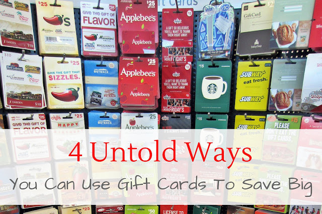 4 Untold Ways You Can Use Gift Cards to Save Big