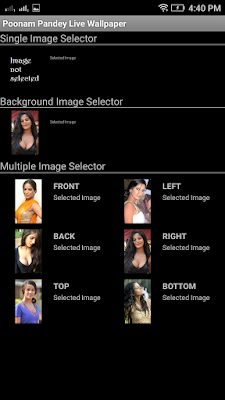 Poonam Pandey 3D live Wallpaper For Android Mobile Phone