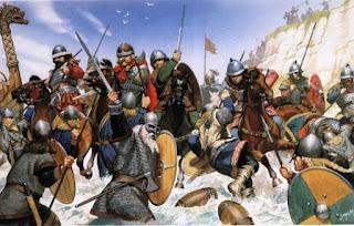 Batalla entre sajones y vikingos