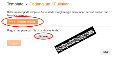 Cara Back Up dan Mengganti Template Blog