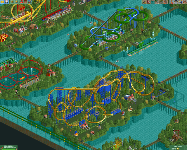 Games que marcaram - Roller Coaster Tycoon