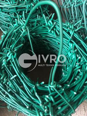 Jual Kawat Duri PVC harga murah langsung dari pabrik