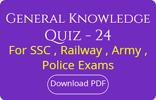 General Knowledge Quiz - 24