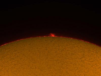 Protuberàncies solars  19/07/2018  11:45 UT