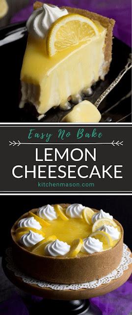 Easy No Bake Lemon Cheesecake Recipe