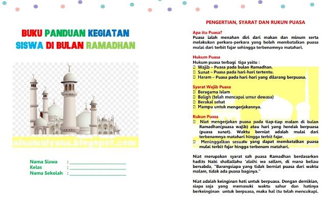 buku ramadhan untuk siswa sekolah