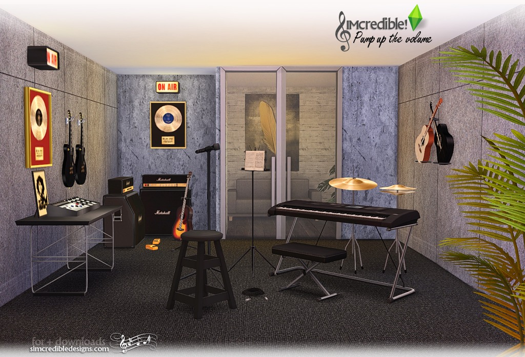 My Sims 4 Blog Pump Up The Volume Music Room Set