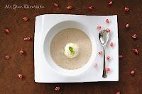 Sopa de Turrón de Jijona con helado de vainilla