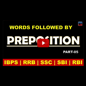 Preposition | Different Words With Their Appropriate Preposition | Part 5 | All Competitive Exams