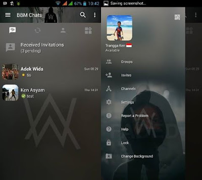 BBM Mod DJ Alan Walker v3.2.0.6 (BBM Transparan Alan Walker)