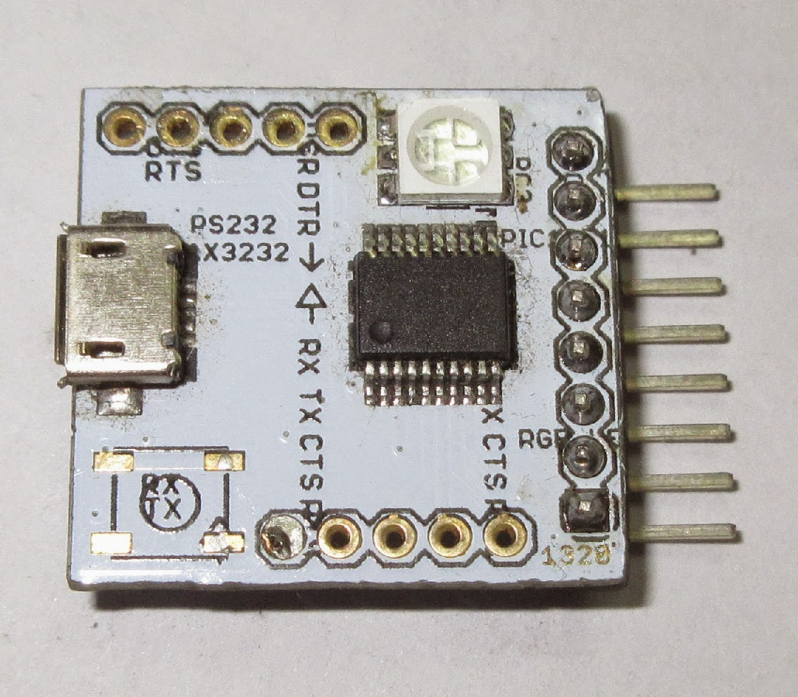 PIC18F14K50 USB Breakout Board with RS232 9