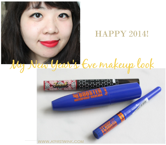 My New Year's Eve makeup look 2013: Black Eyeliner and Red Lips