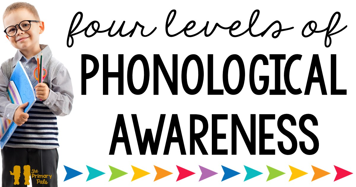 Phonological awareness is a process that all successful readers go through. In the simplest terms, it is the understanding that sentences are made of words, words are made of syllables, and syllables are made of phonemes. Phonological awareness is a broad term that can easily be broken down into four levels.