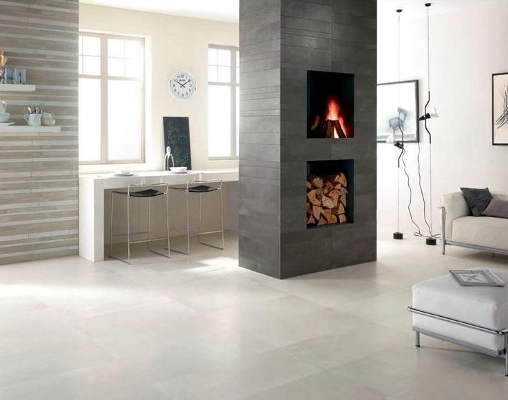 Il pavimento in gres porcellanato rettificato effetto resina ideale per ambienti in stile moderno contemporaneo industrial urban chic