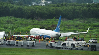 Xiamen Air Overshoots Runway in Manila