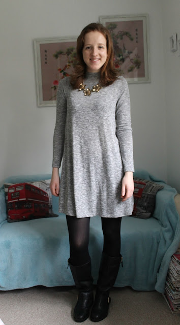 OOTD, Outfit, Primark, Dress, Grey Dress, Warehouse, New Look, ASOS, Bag