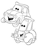 Desenhos do cars, com o Faísca Mcqueen e os seus amigos para tu colorires!