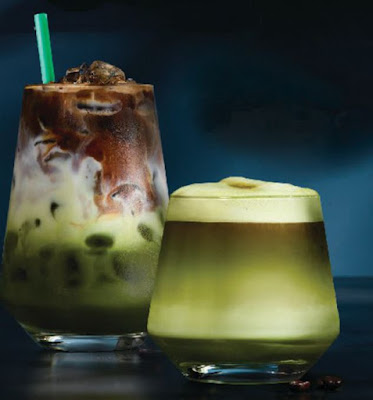 Source: Starbucks. Matcha & Espresso Fusion is a blend of coffee and tea.