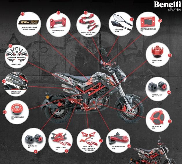 Benelli TNT 135 LE Terhad 1000 unit, Harga RM9,988