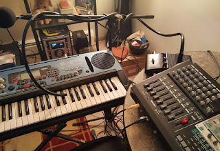 Music production equipment Set-up