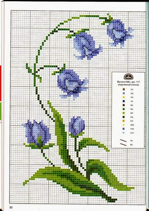 Ricami e schemi a Punto Croce gratuiti: Raccolta di schemi a punto croce: fiori per la casa