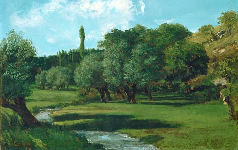 Gustave Courbet - La Berthonnerie an der Grenze zwischen Indre und Vienne, 1856,