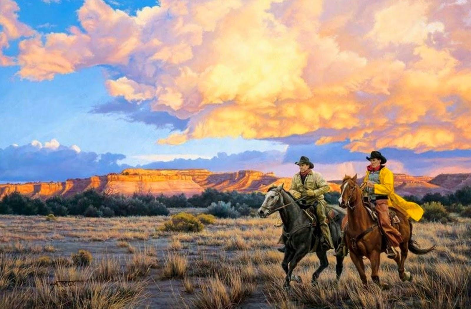 pinturas-al-oleo-paisajes-con-caballos