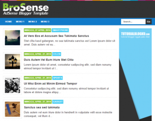 BroSense - Template Blog SEO Friendy Super Simple untuk Adsense