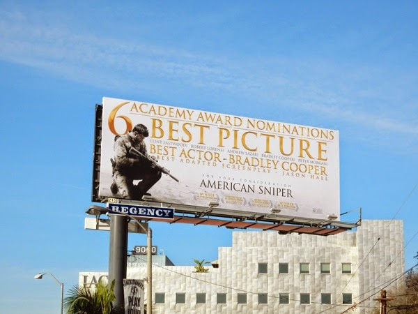 American Sniper Oscar billboard Sunset Strip