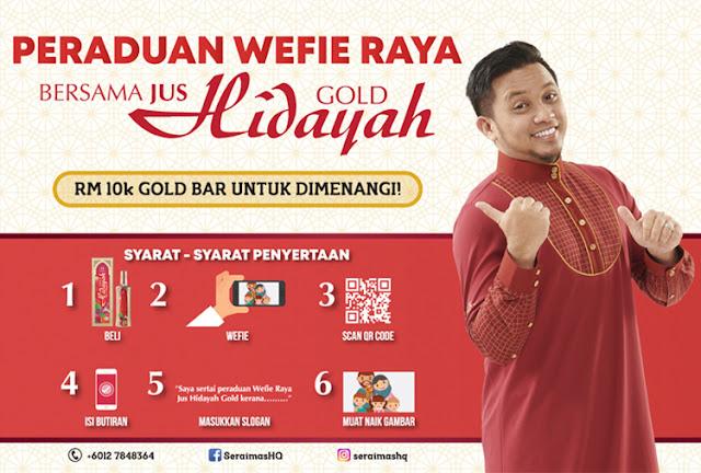 Peraduan Wefie Raya Bersama Jus Hidayah Gold
