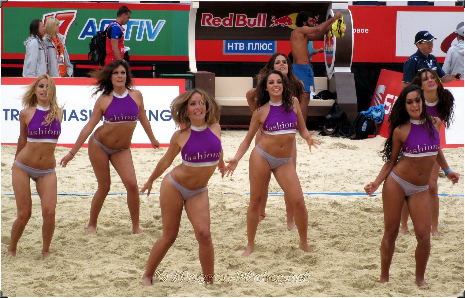 Beach Volleyball Bikini Cheerleaders