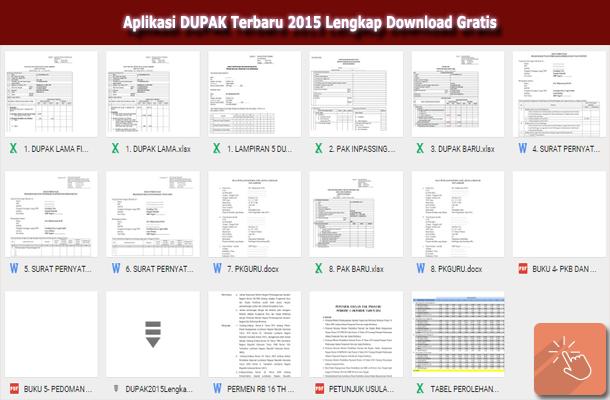 Aplikasi DUPAK Terbaru 2015 Lengkap Download Gratis