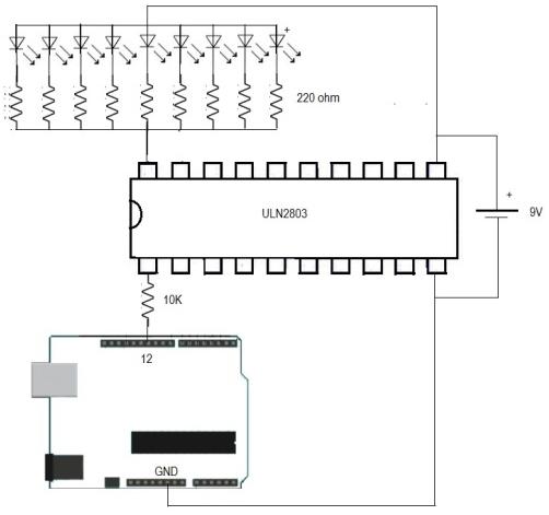 mr breadboard  uln2803a darlington transistor arrays