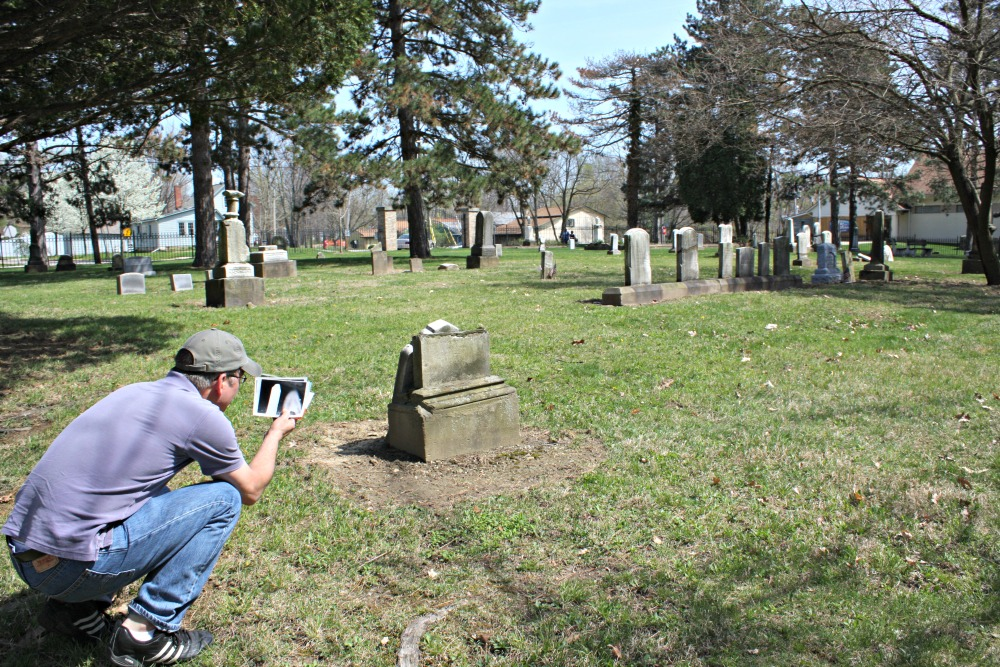 Inspecting the shape of the gravestone