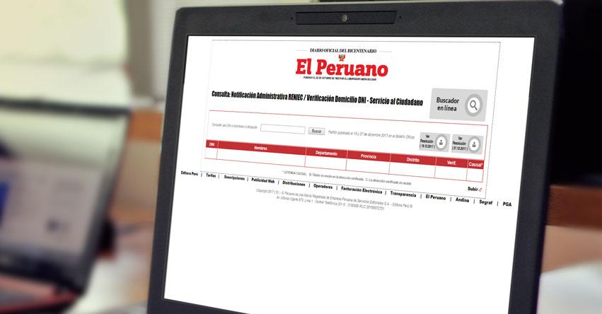 RENIEC: Consulta si tu DNI está en la lista que podrían ser multados si no esclarecen observaciones a su domicilio - www.reniec.gob.pe