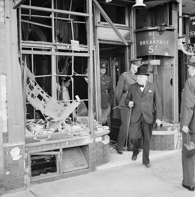 28 August 1940 worldwartwo.filminspector.com Churchill Ramsgate bomb damage