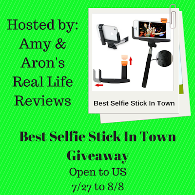 Enter the Best Selfie Stick in Town Giveaway. Ends 8/8