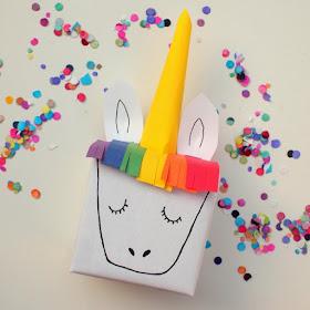 magical unicorn gift box birthday wrapping kids craft