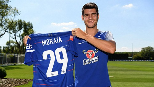 Morata thi đấu trong màu áo câu lạc bộ mới là Chelsea