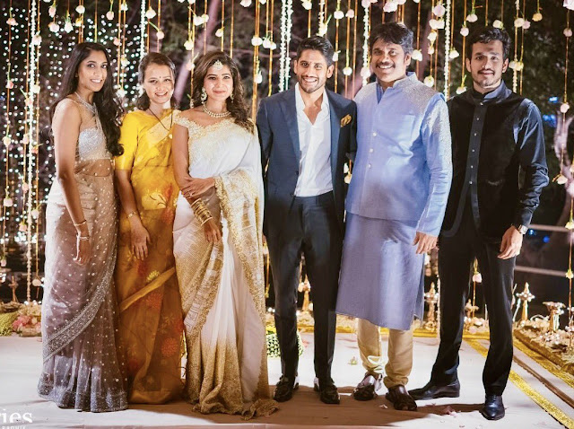 Akkineni Naga Chaitanya, Samantha Engagement Ceremony Photos