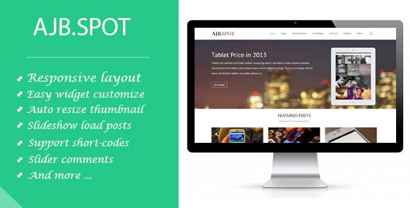 AjbSpot Responsive Multi Purpose Blogger Template