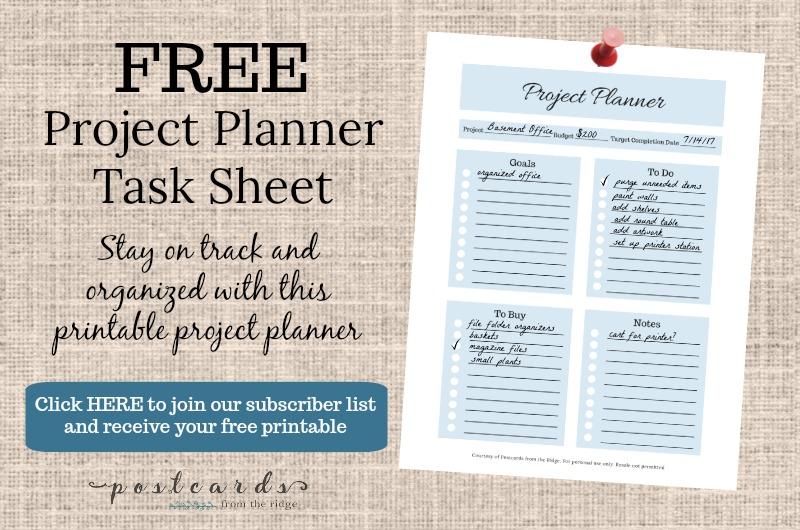 design studio progress plus a free project planner postcards from