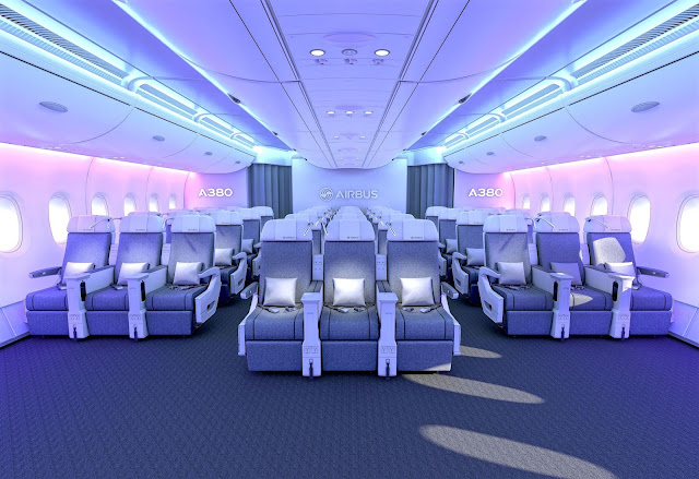 Airbus A380 Premium Economy New Layout and Ambience