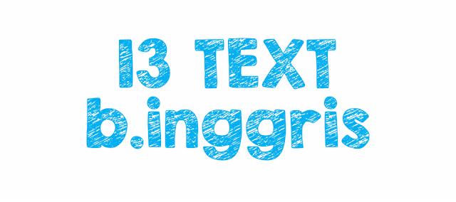 13 Jenis Text Bahasa Inggris